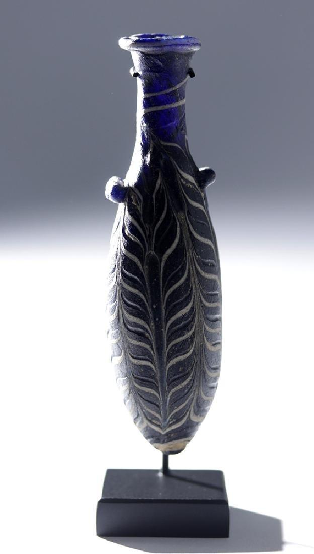 Hellenistic Greek Core-Formed Glass Alabastron - 7