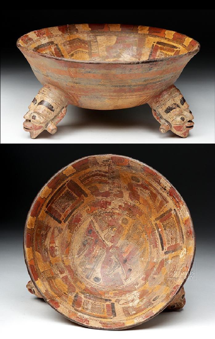 Rare Costa Rican Polychrome Tripod, Mayan Influence