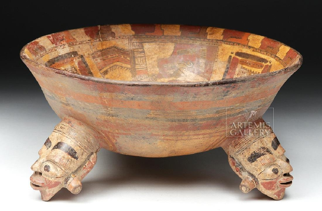 Rare Costa Rican Polychrome Tripod, Mayan Influence - 2