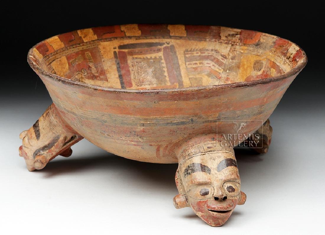 Rare Costa Rican Polychrome Tripod, Mayan Influence - 3