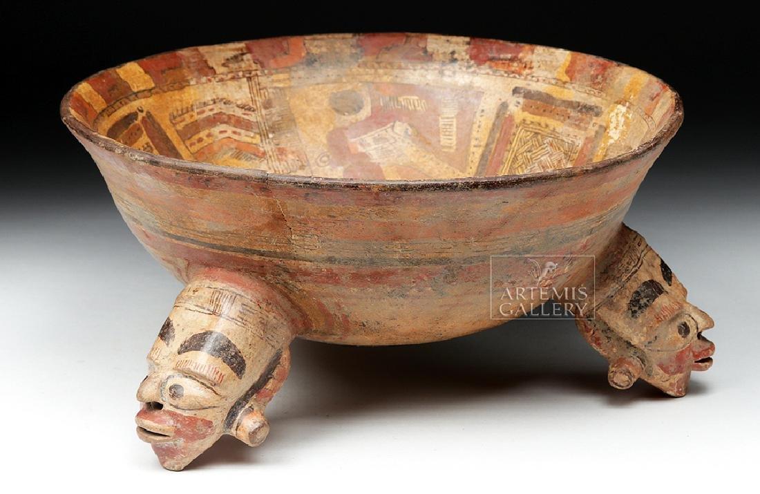 Rare Costa Rican Polychrome Tripod, Mayan Influence - 4