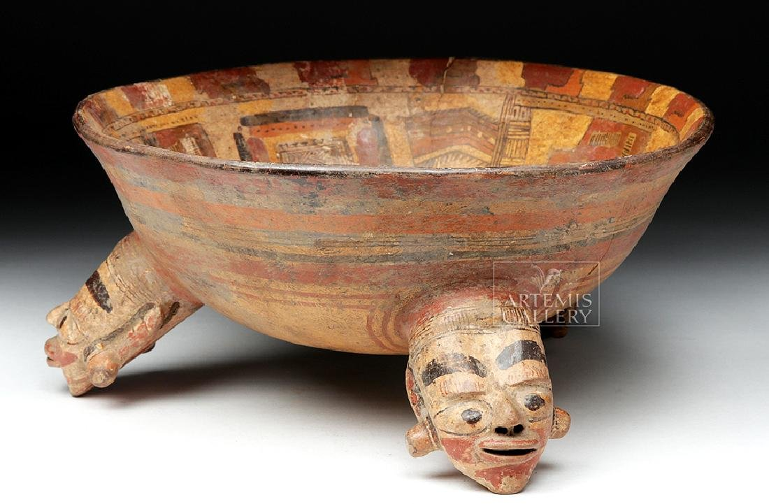 Rare Costa Rican Polychrome Tripod, Mayan Influence - 5