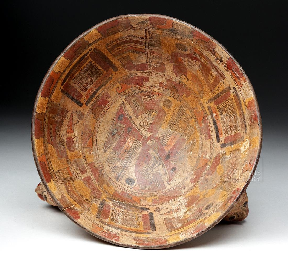 Rare Costa Rican Polychrome Tripod, Mayan Influence - 6