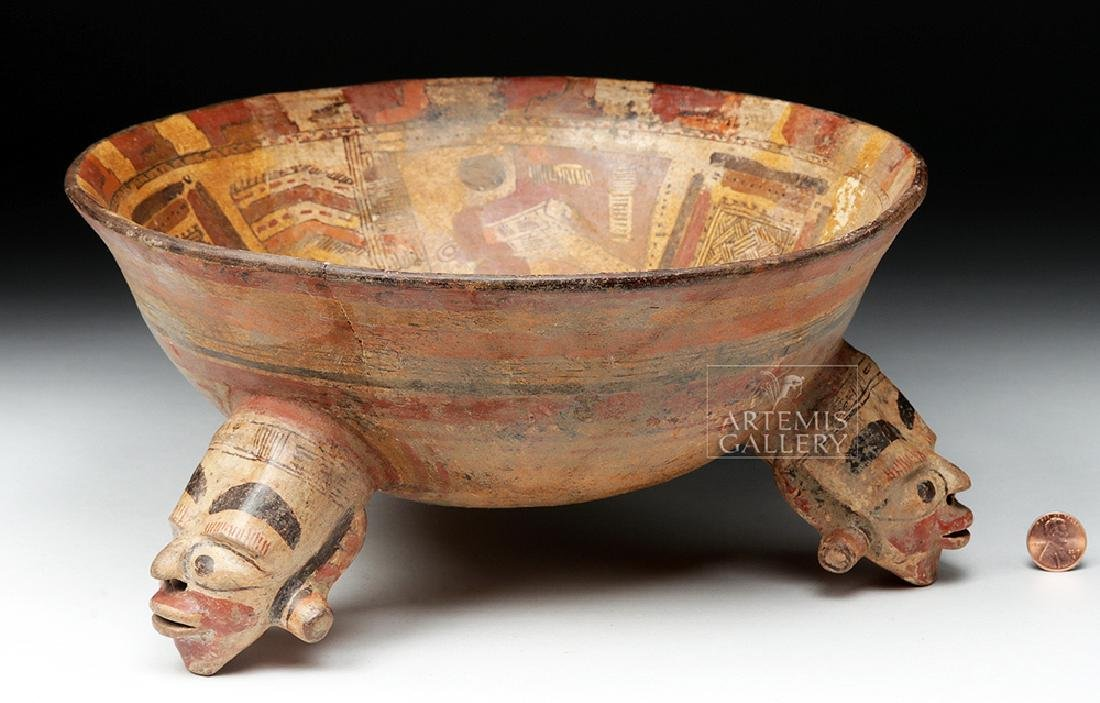 Rare Costa Rican Polychrome Tripod, Mayan Influence - 8