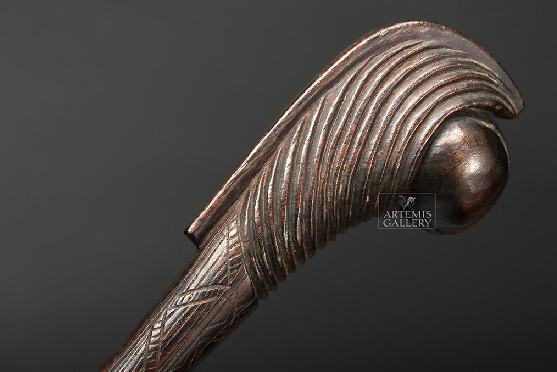 Wonderful Early 20th C. South African Wooden Club - 2