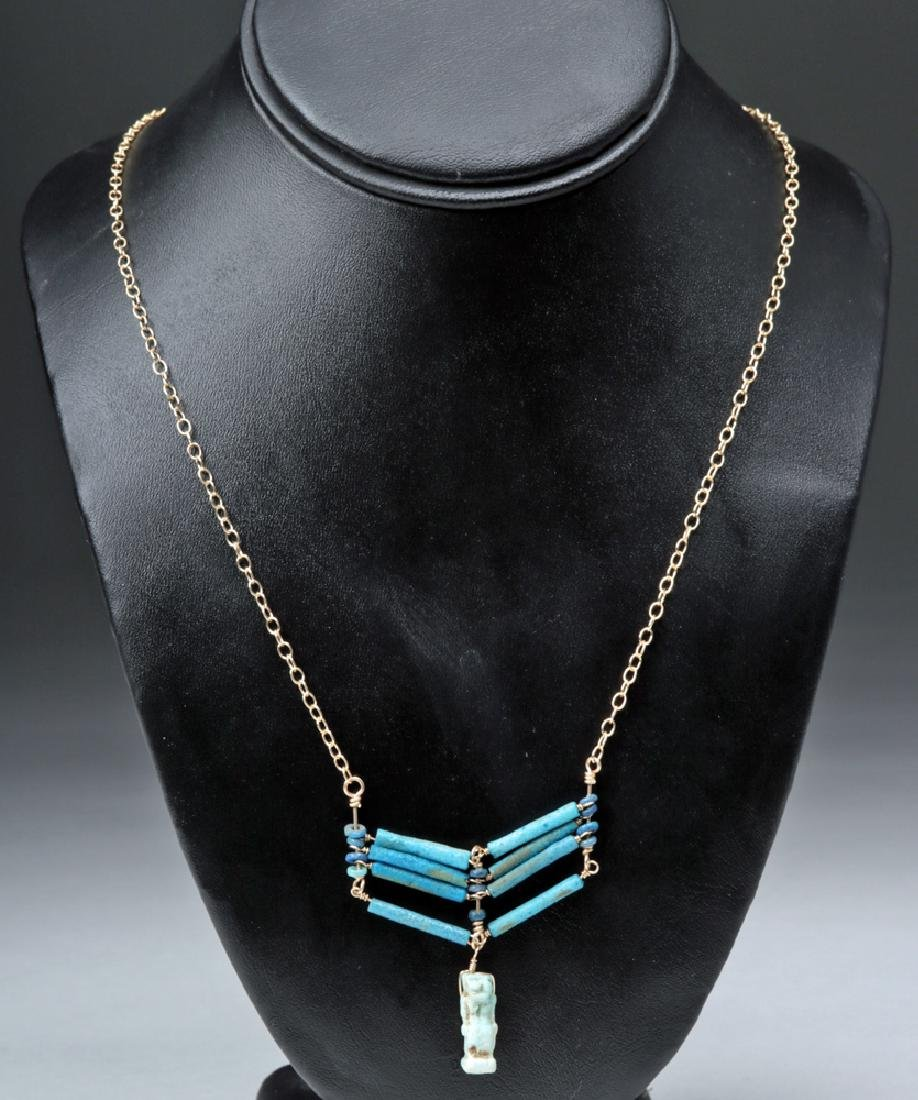 Egyptian Warrior Chest Shield & Taweret Amulet Necklace - 2