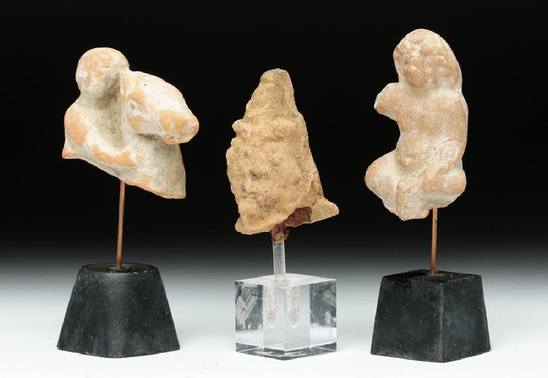 Lot of 3 Romano-Egyptian Terracotta Votives - 2