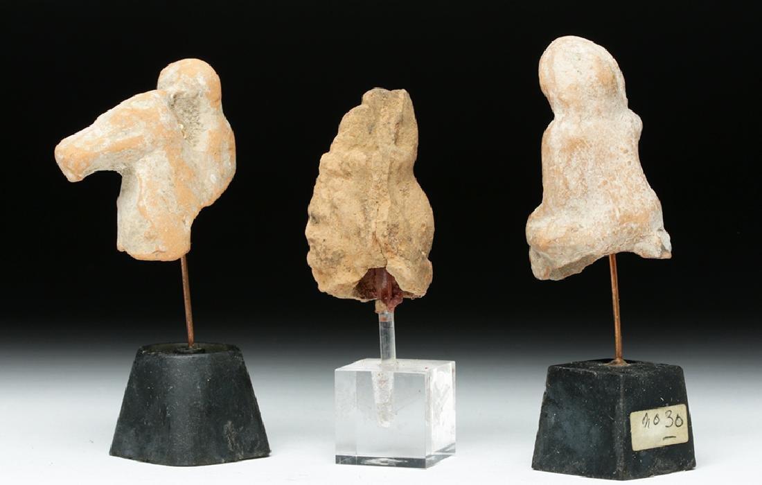 Lot of 3 Romano-Egyptian Terracotta Votives - 3