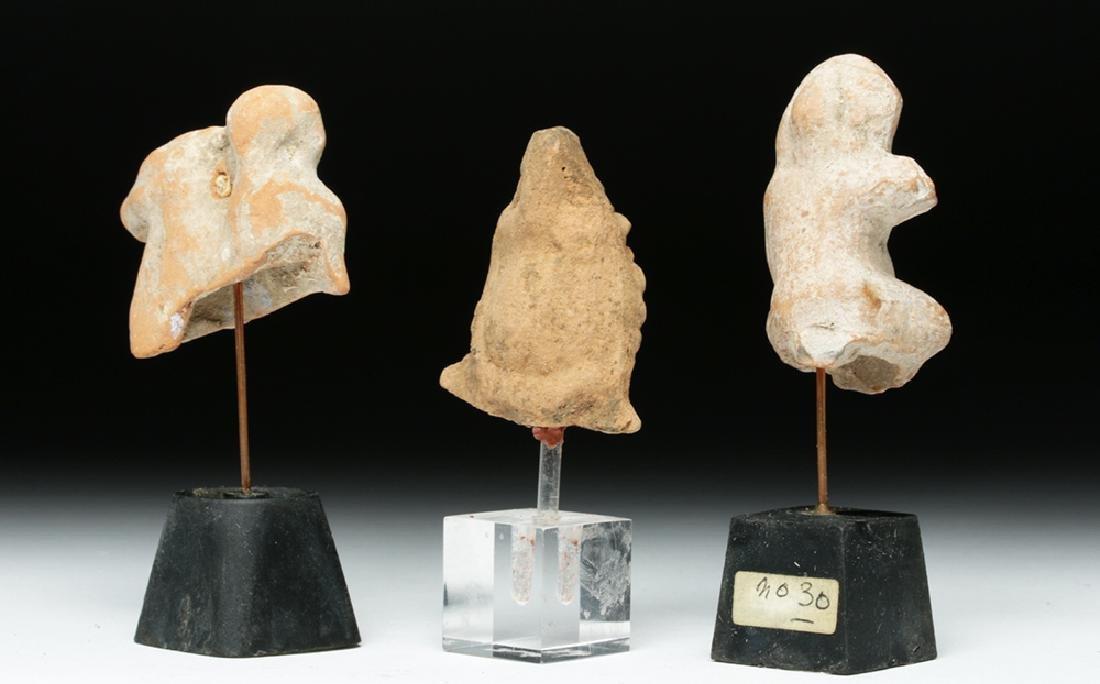 Lot of 3 Romano-Egyptian Terracotta Votives - 4