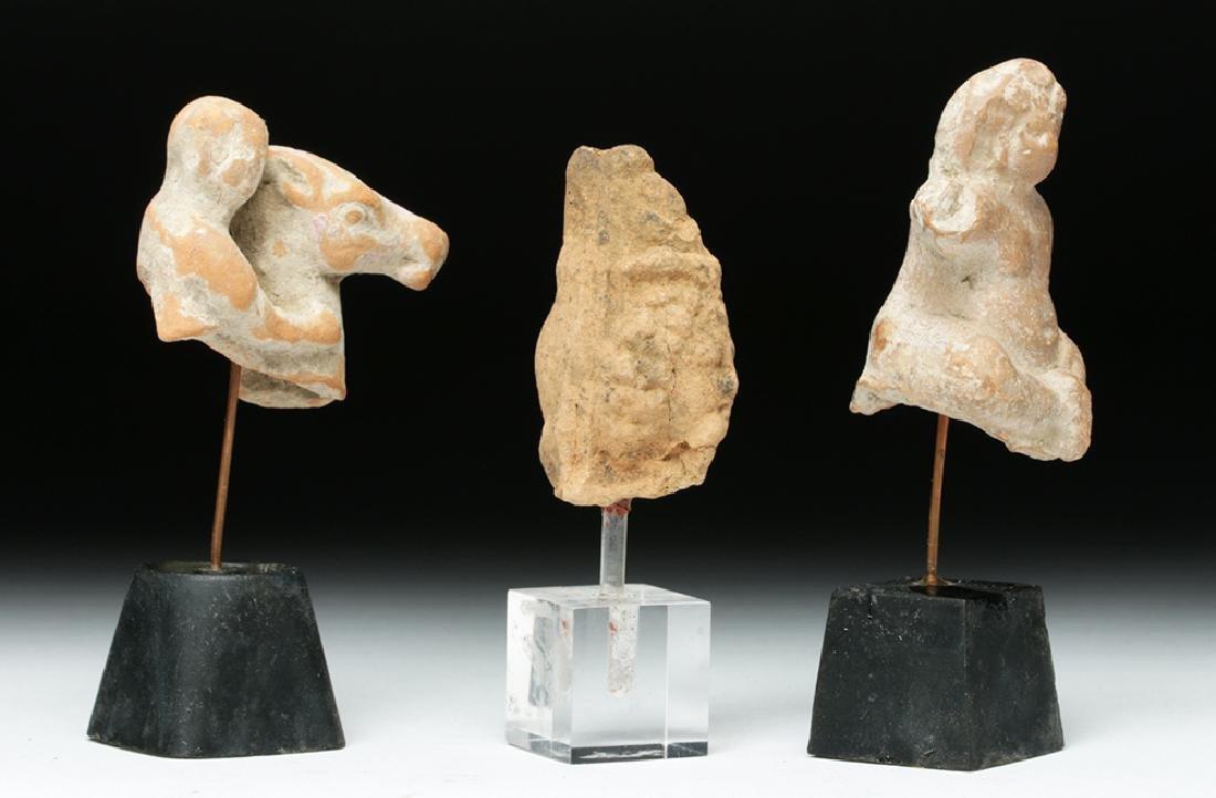 Lot of 3 Romano-Egyptian Terracotta Votives - 5