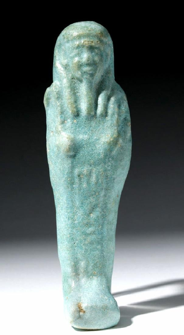 Lovely Egyptian Robin Egg Blue Faience Ushabti