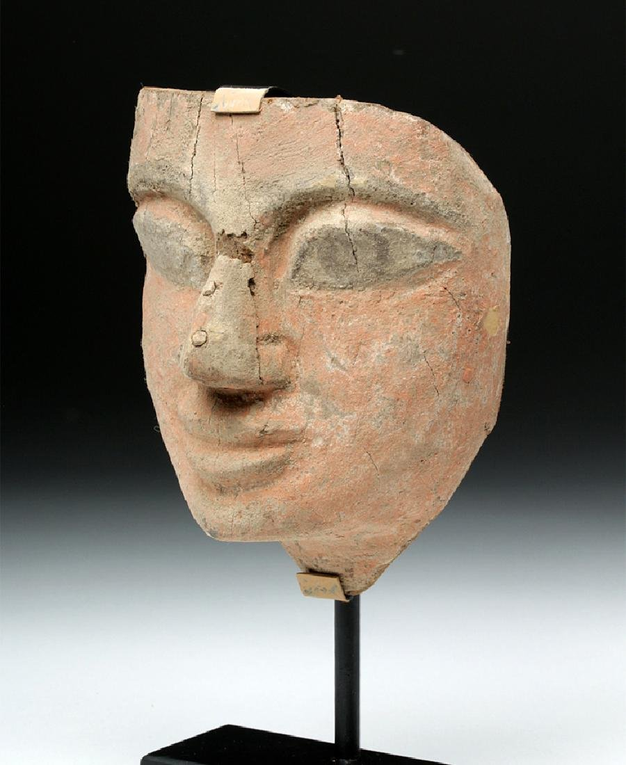 Fine Egyptian Painted Wood / Gesso Mummy Mask