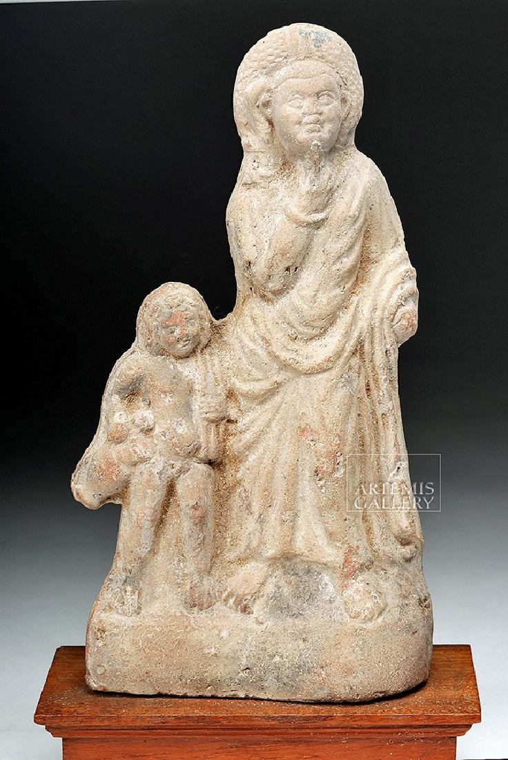 Romano-Egyptian Terracotta Figure with Child