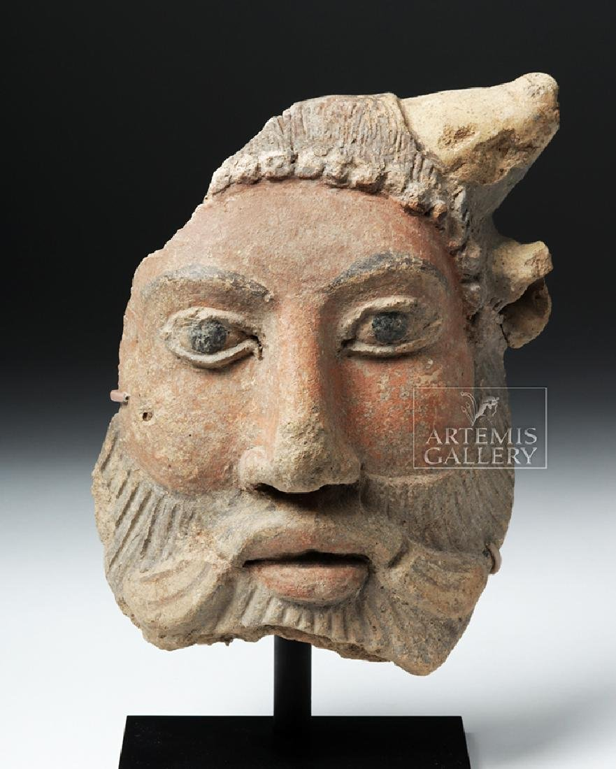 Etruscan Polychrome Antefix of Achelous