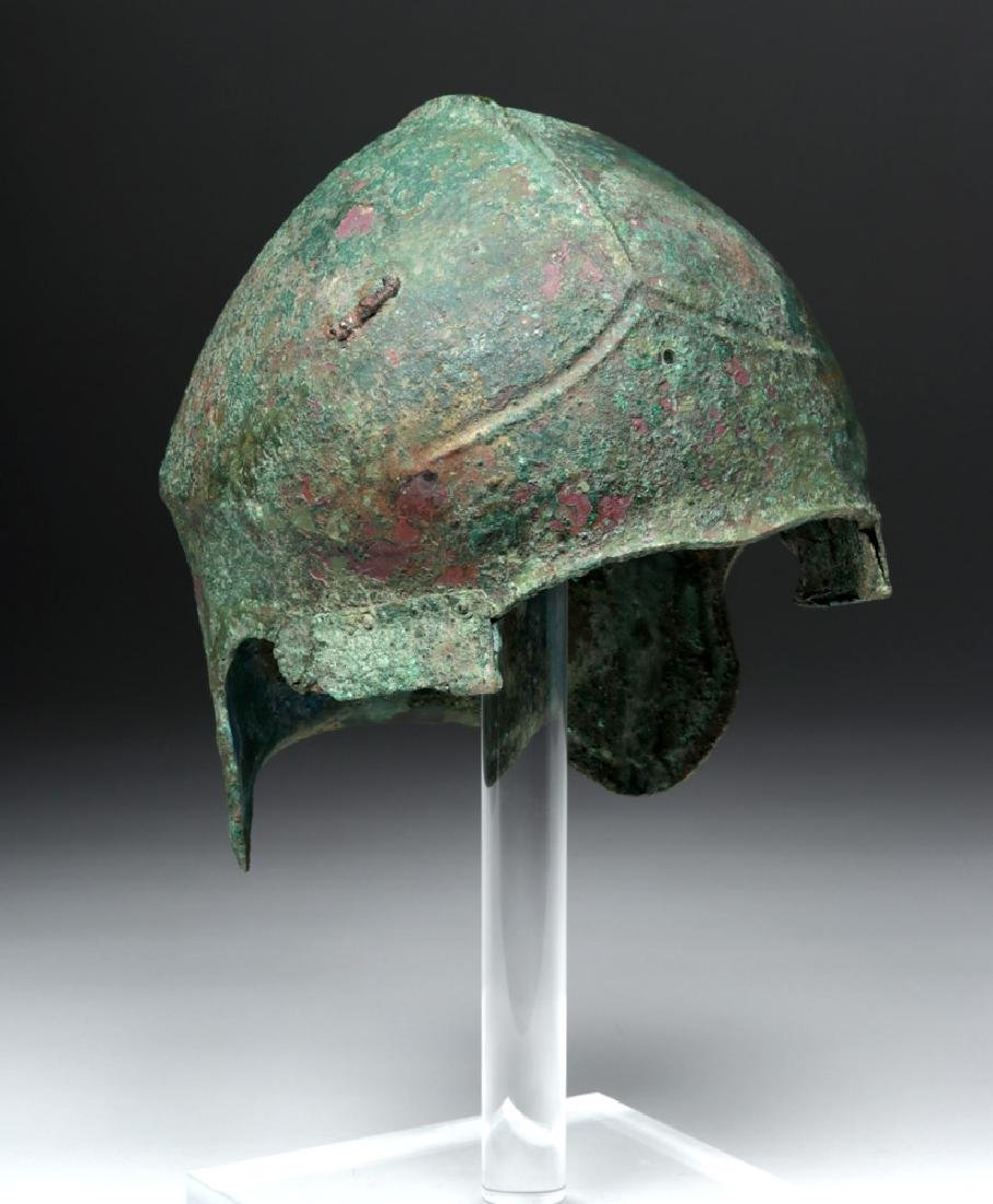 Greek Bronze Chalcidian Helmet, ex-Sotheby's
