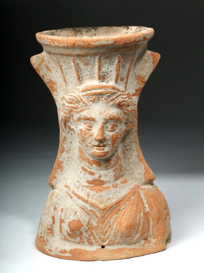Tall / Important Greek Terracotta Censer - Female