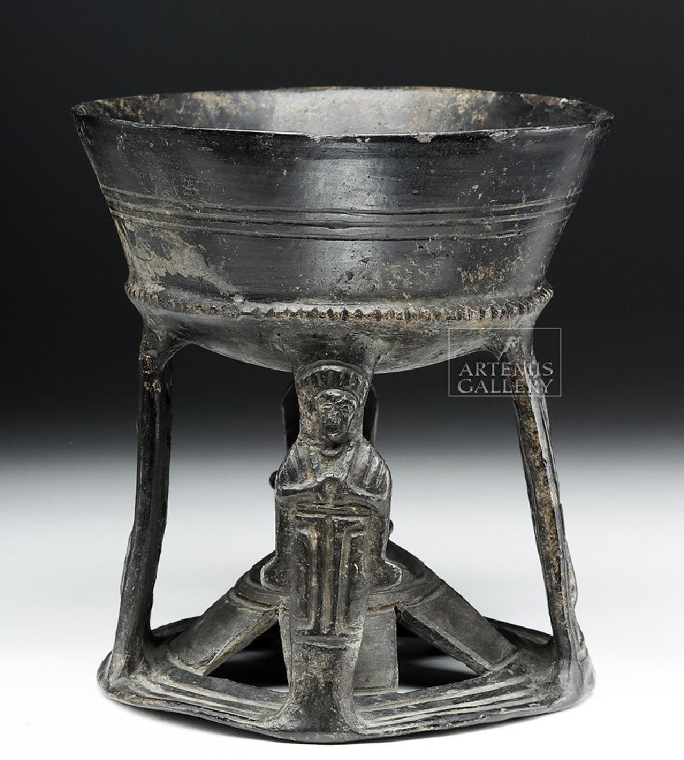 Etruscan Bucchero Chalice, ex-Royal Athena