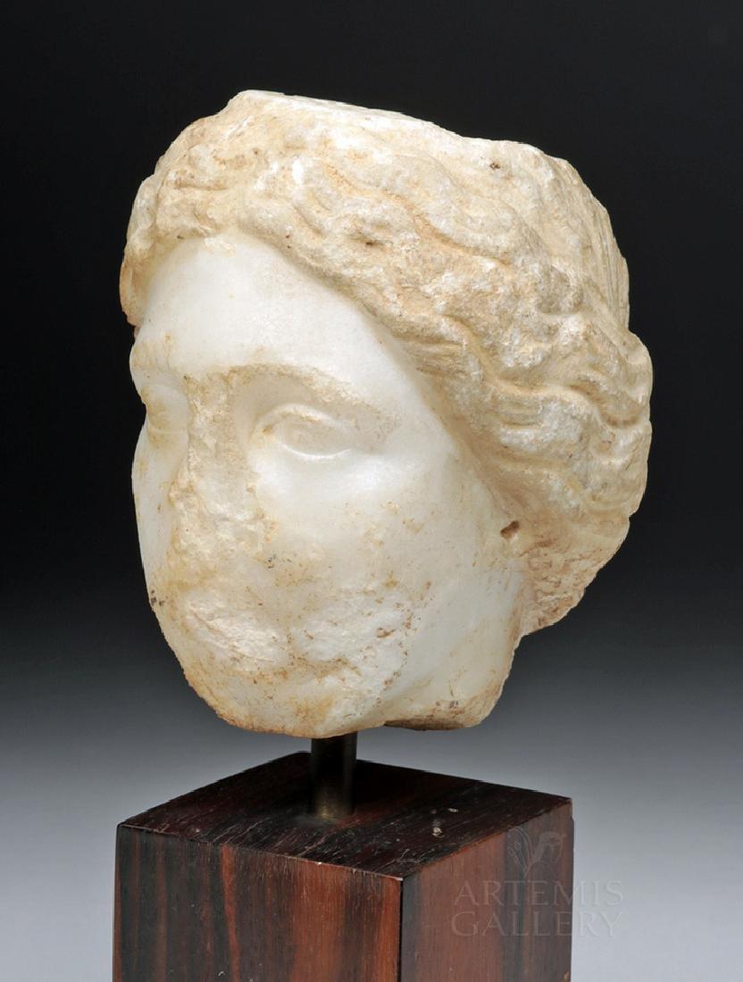 Roman Marble Head of a Goddess - Venus