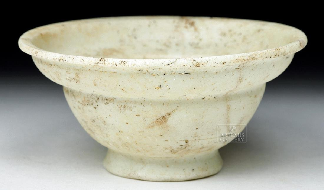 Rare Roman White Paste Glass Patella