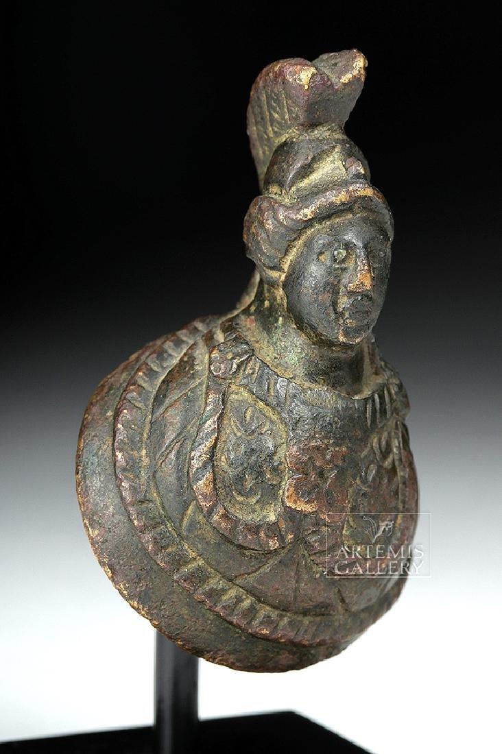 Fine Roman Bronze Bust of Minerva