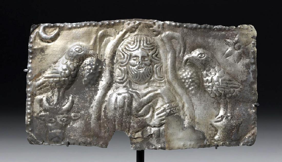 Roman Imperial Silver Votive Plaque Sacred Deity