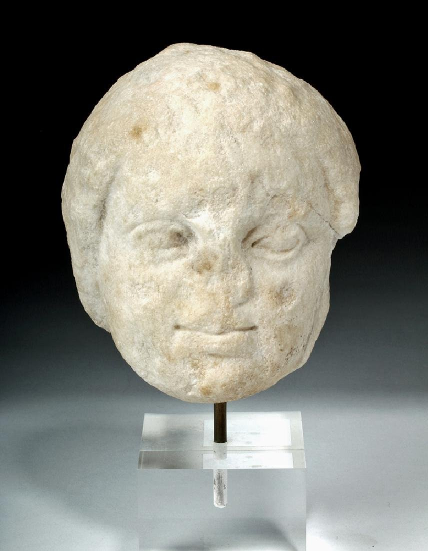 Roman Marble Bust of Eros (Cupid)