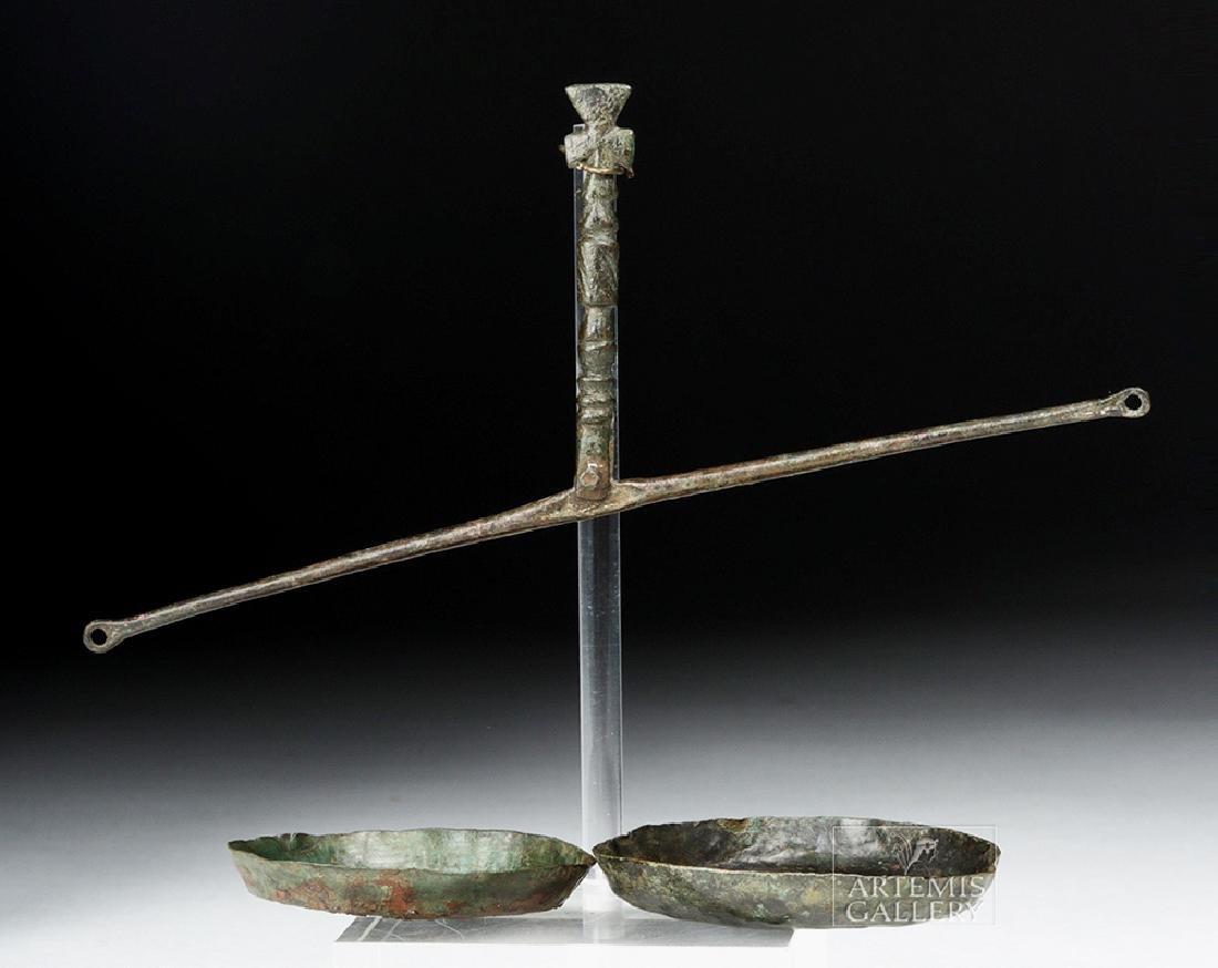 Roman / Byzantine Bronze Scale w/ Two Bowls