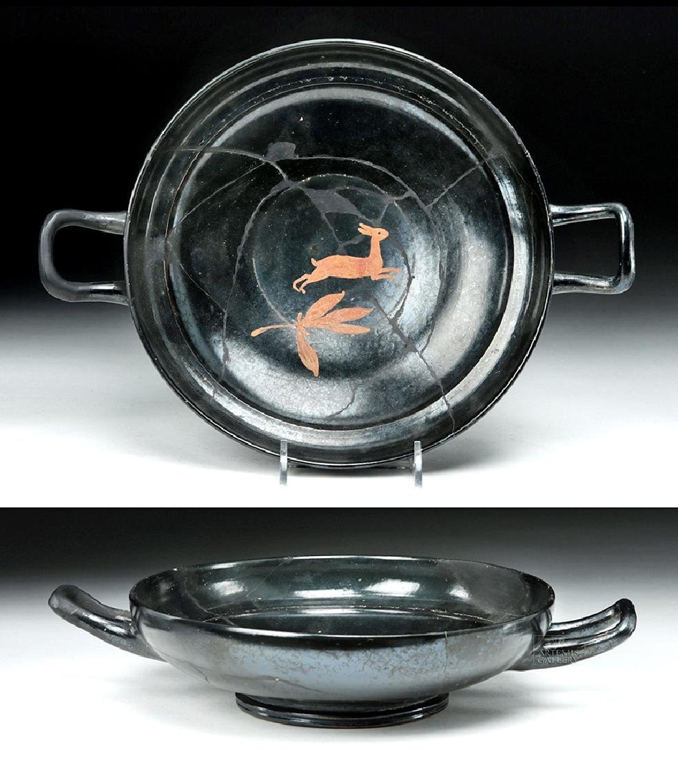 Greek Stemless Kylix with Hare