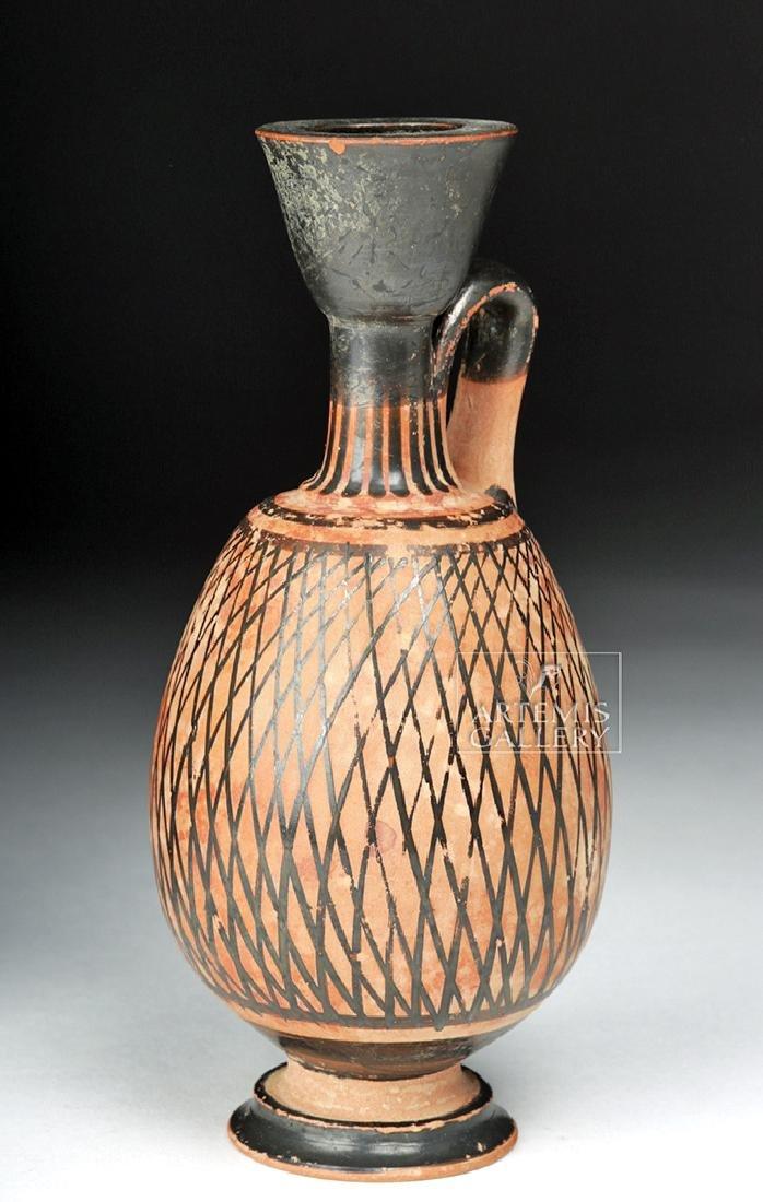 Greek Apulian Pottery Net Lekythos