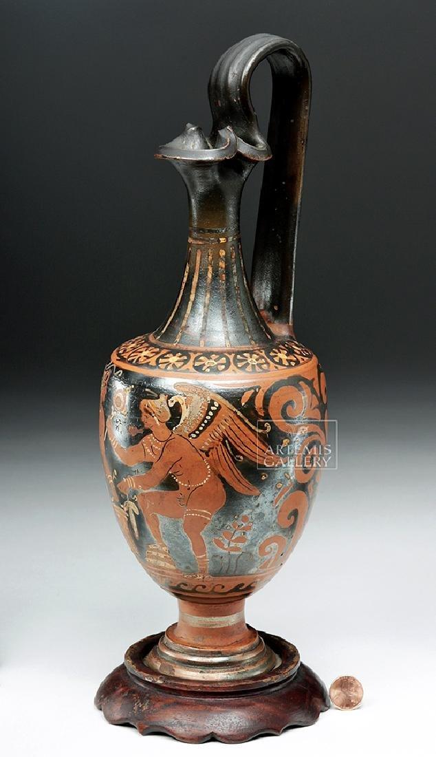 Greek Apulian Red-Figure Oinochoe, ex-Christie's