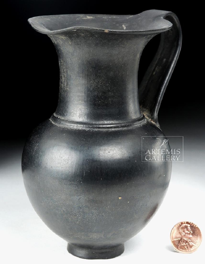 Etruscan Bucchero Pottery Oinochoe