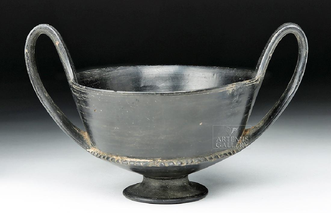Etruscan Bucchero Pottery Kantharos