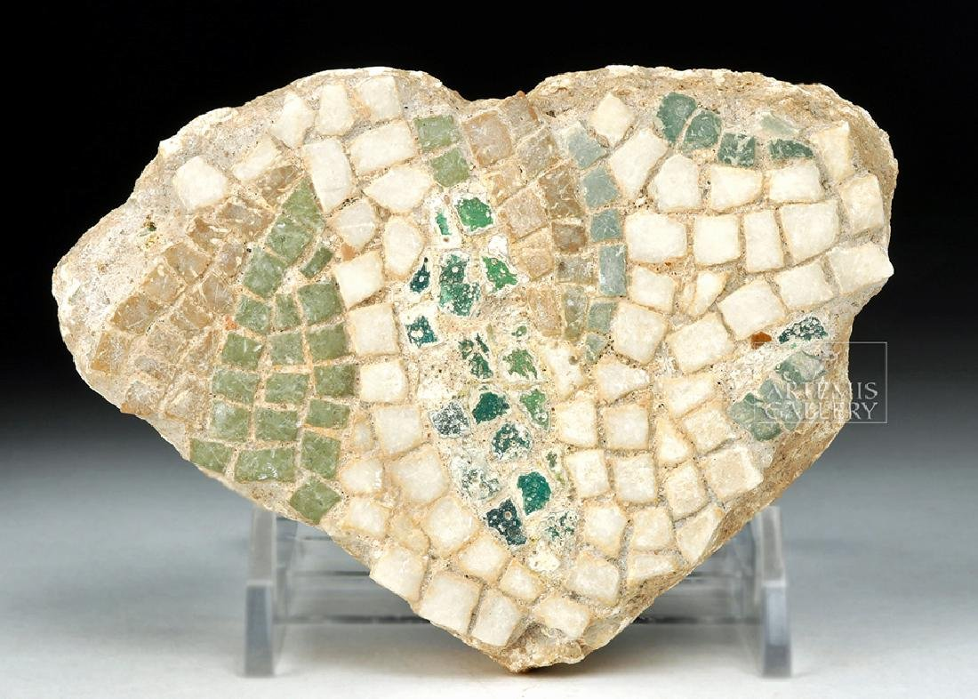 Roman Mosaic Fragment - Leaves