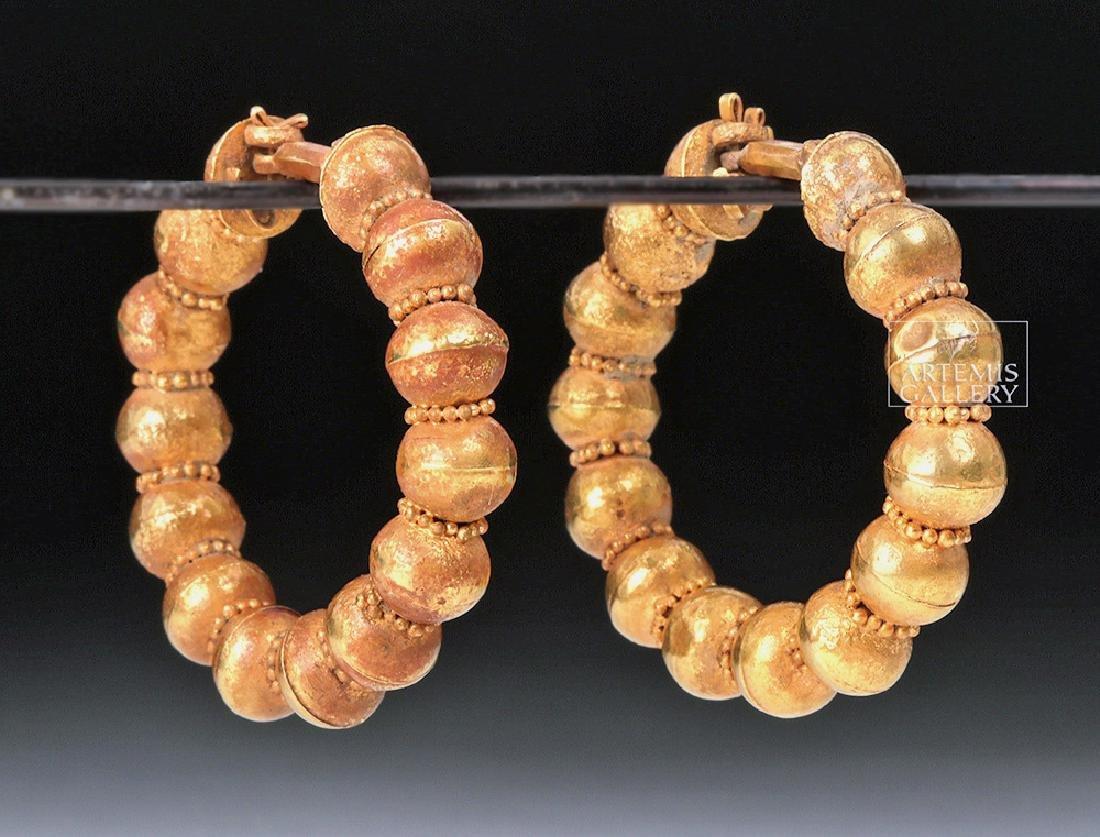 Roman 18K Gold Earrings - 13.6 g
