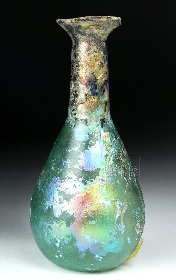 Roman Glass Flask - Gorgeous Iridescence