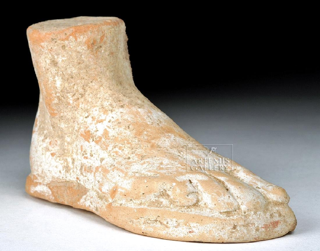 Roman Terracotta Votive of Right Foot, ex-Bonhams