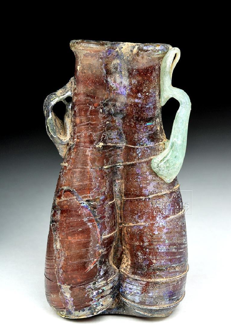 Roman Glass Double Unguent - Aubergine & Wintergreen