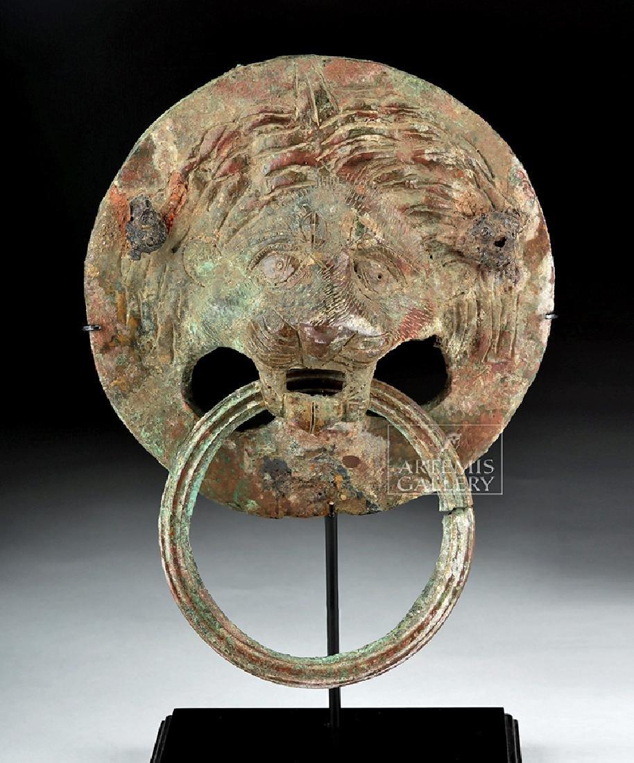 Late Roman Bronze Lion's Head Door Knocker
