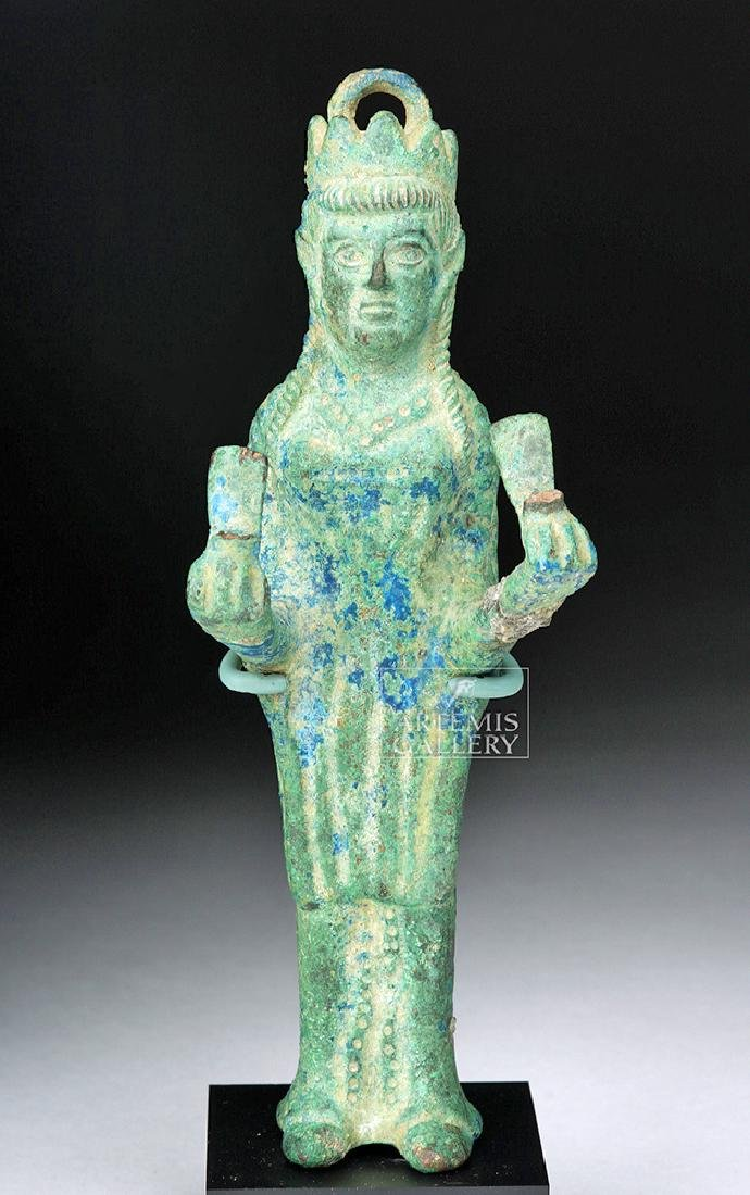 Byzantine Bronze Empress Weight w/ Crown