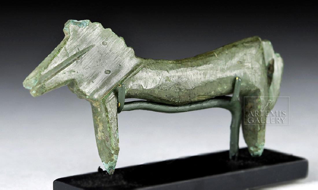 Greek Geometric Bronze Miniature Horse Figurine