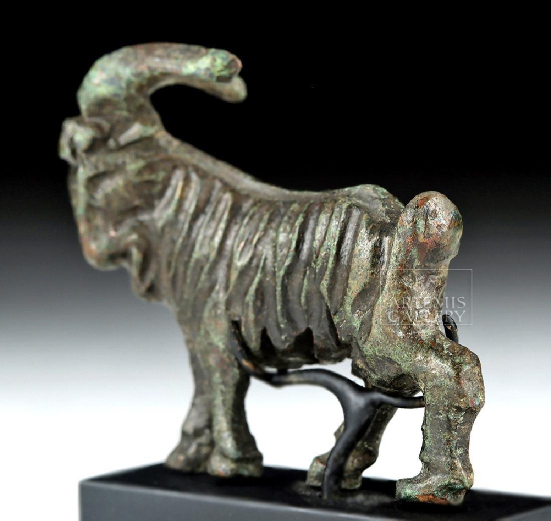 Miniature Roman Bronze Figure of a Goat