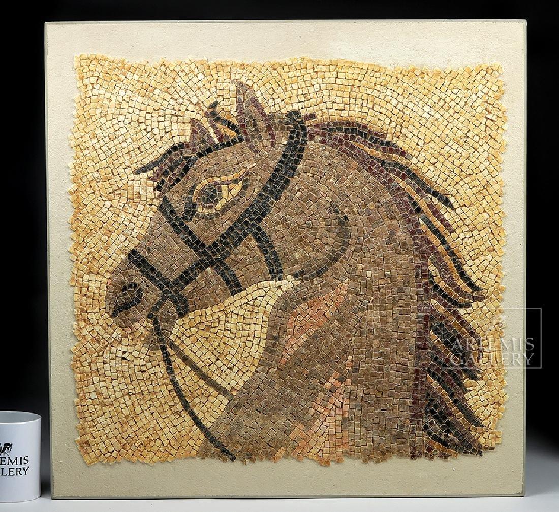Roman Mosaic of Horse Head