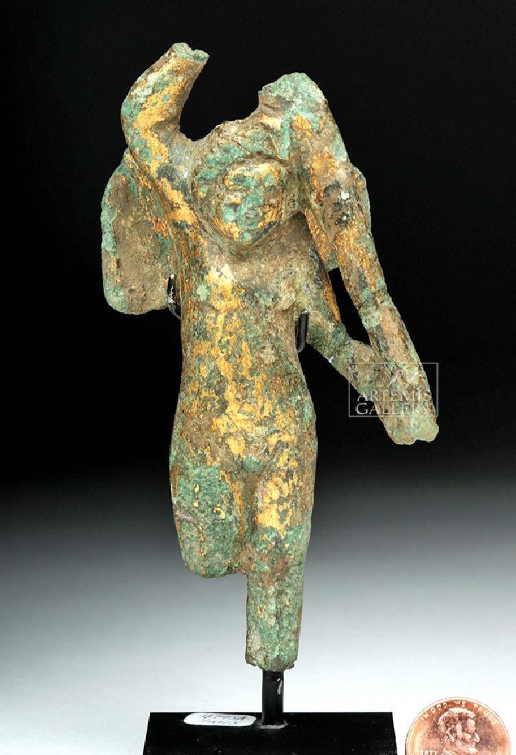 Roman Imperial Gilded Bronze Cupid / Eros