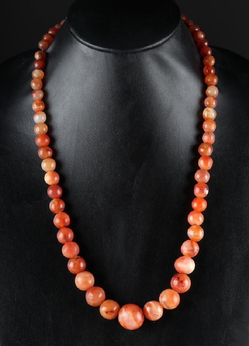 Roman Red Carnelian Beaded Necklace