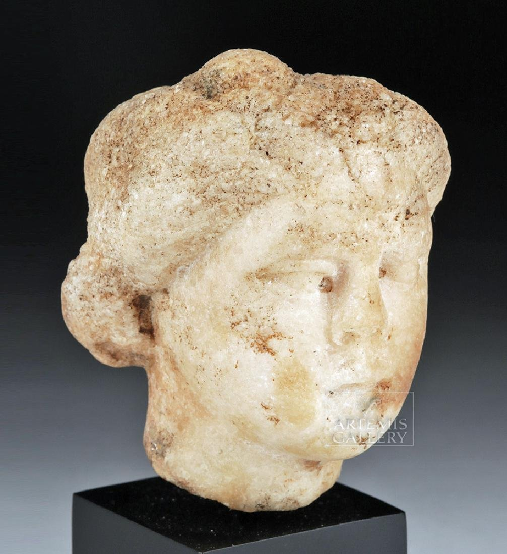 Roman Marble Female Head of Muse, ex-Charles Ede