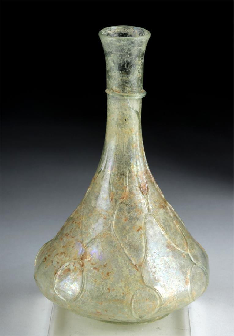Roman Green Glass Flask, ex-Christie's & Sotheby's
