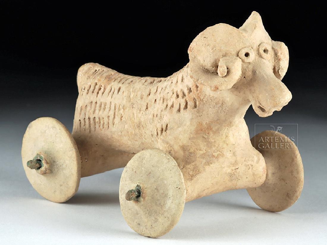 Anatolian Terracotta Wheeled Model / Toy - Ram Form