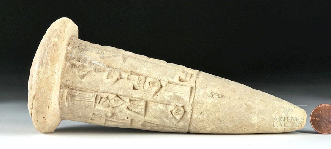 Sumerian Foundation Cone w/ Cuneiform - ex Bonham's