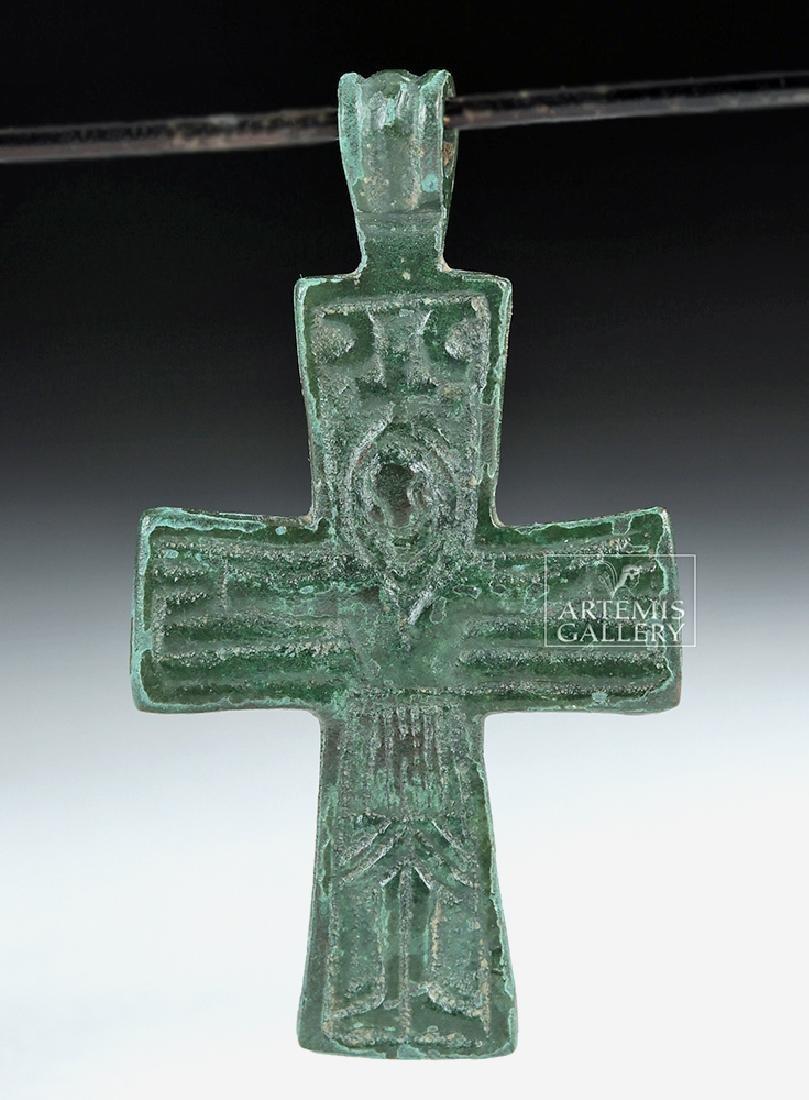 Miniature 9th C. Byzantine Bronze Cross