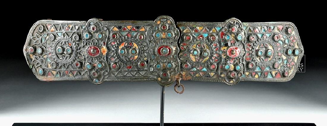 Lovely Byzantine Bronze and Enamel Belt